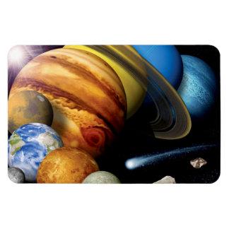 Solarsystems-Planetenmontage-Raum-Fotos der NASAs Magnet