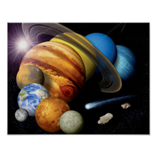 Solarsystems-Planetenmontage-Raum-Fotos der NASAs Poster