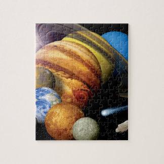 Solarsystems-Planetenmontage-Raum-Fotos der NASAs Puzzle