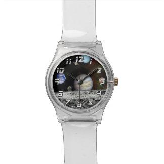 Solarsystemvoyager-Bildermontage-Raum-Fotos Armbanduhr