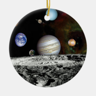 Solarsystemvoyager-Bildermontage-Raum-Fotos Keramik Ornament