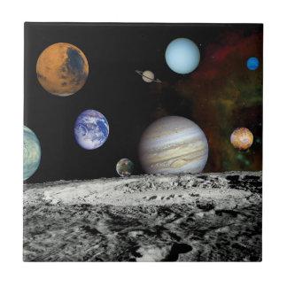 Solarsystemvoyager-Bildermontage-Raum-Fotos Keramikfliese