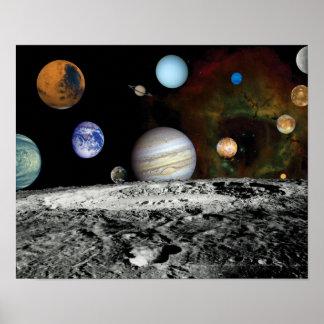 Solarsystemvoyager-Bildermontage-Raum-Fotos Poster