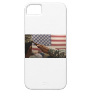 Soldat begrüßt die Staat-Flagge Etui Fürs iPhone 5