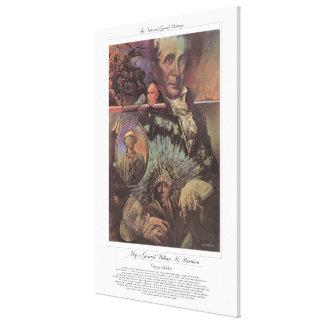 Soldat GENERALMAJOR-WILLIAMS H. HARRISON Citizen Galerie Gefaltete Leinwand