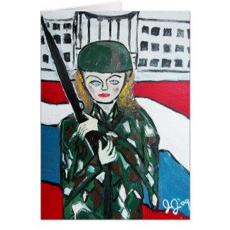 Soldat-Mädchen Karte