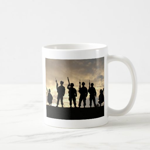 Soldat-Silhouetten Tee Tassen