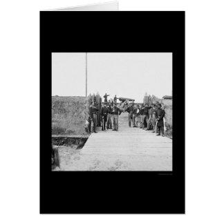 Soldaten am Tor des Forts Slemmer 1865 Karte