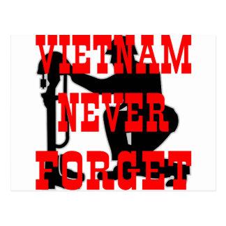 Soldaten Quervietnam vergessen nie Postkarte