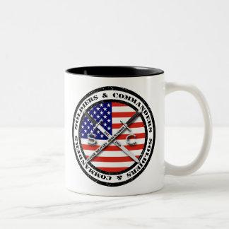 Soldaten u. Kommandanten Circular Logo Coffee Mug Zweifarbige Tasse