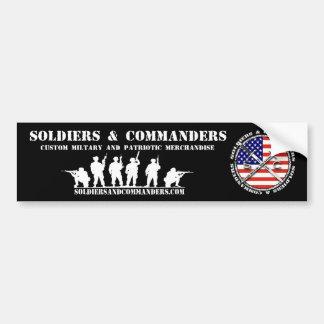 Soldaten und Kommandanten Autoaufkleber