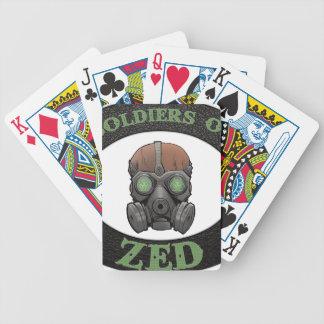 Soldaten von ZED Logo Bicycle Spielkarten