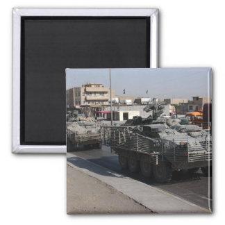 Soldatpatrouillieren Quadratischer Magnet