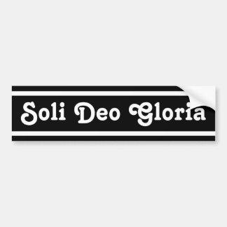 Soli Deo Gloria Autoaufkleber