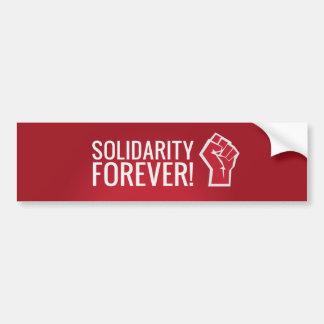 Solidarität für immer! autoaufkleber