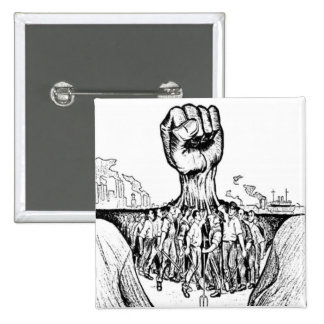 Solidarität Quadratischer Button 5,1 Cm