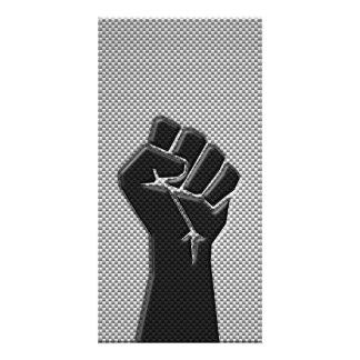 Solidaritäts-Faust in der Photokartenvorlage