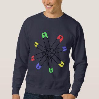 Solidaritäts-Regenbogen-Sicherheits-Button Sweatshirt