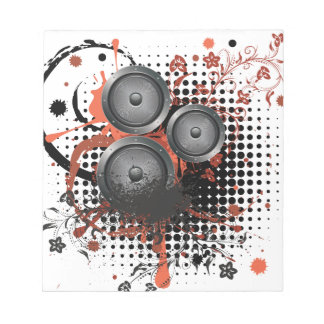 Solider Lautsprecher mit Blumen Notizblock