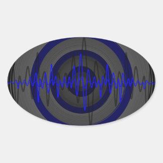 Solides blaues dunkles Aufkleberoval Ovaler Aufkleber