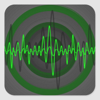 Solides grünes dunkles Aufkleberquadrat Quadratischer Aufkleber