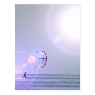 Solo- Kiteboard Postkarte