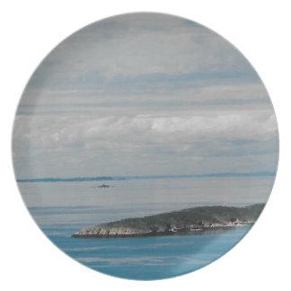 Solo- Schwester-Insel Teller