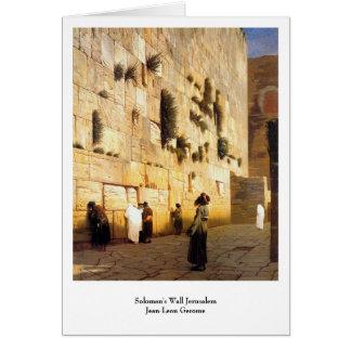 Solomans Wand Jerusalem, Jean-Leon Gerome Karte
