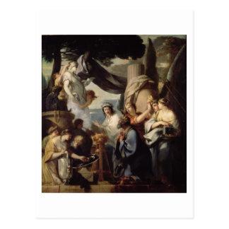 Solomon, der ein Opfer zu den Idolen bringt Postkarte