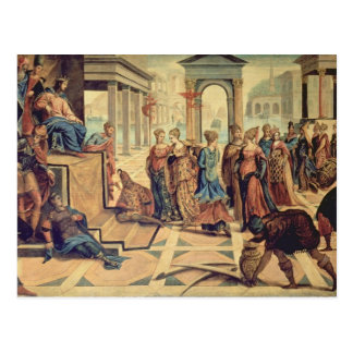 Solomon und die Königin von Sheba Postkarte