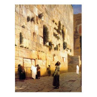 Solomons Wand, Jerusalem durch Jean-Leon Gerome Postkarte