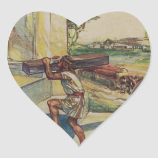 solomontemplemason Herz-Aufkleber