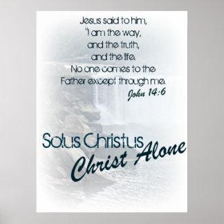Solus Christus/Christus allein Posterdruck