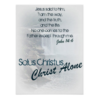 Solus Christus/Christus allein Poster