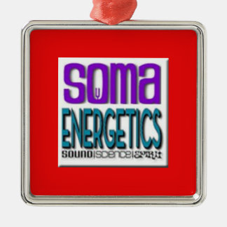 SomaEnergetics ornament2 Quadratisches Silberfarbenes Ornament