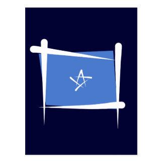 Somalia-Bürsten-Flagge Postkarte