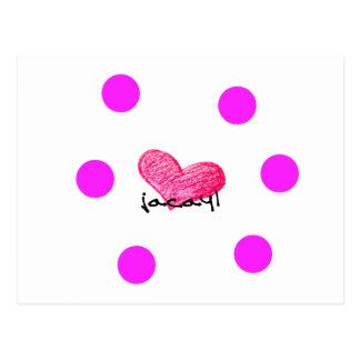 Somalische Sprache des Liebe-Entwurfs Postkarte