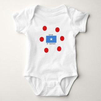 Somalische Sprache und Somalia-Flaggen-Entwurf Baby Strampler