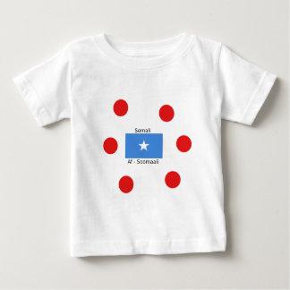 Somalische Sprache und Somalia-Flaggen-Entwurf Baby T-shirt