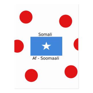 Somalische Sprache und Somalia-Flaggen-Entwurf Postkarte