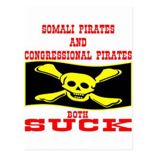 Somalische u. Kongreßpiraten beide sind zum Kotzen Postkarte