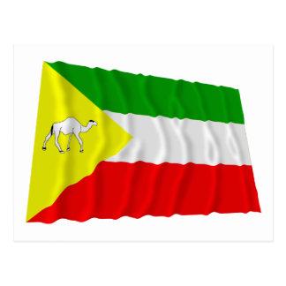 Somalische wellenartig bewegende Flagge Postkarte