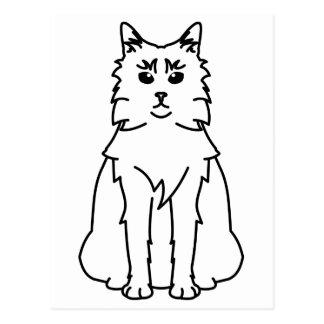 Somalischer Katzen-Cartoon Postkarte