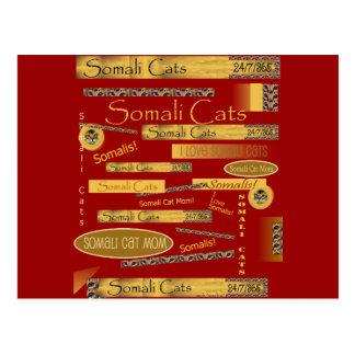 Somalischer Katzen-Fanatiker Postkarte