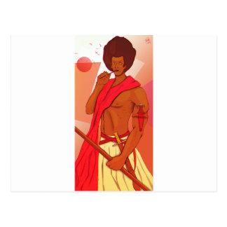 Somalischer Krieger Warranleh Postkarte