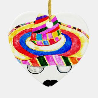 Sombrero-Hut-Aquarell 2 Keramik Ornament