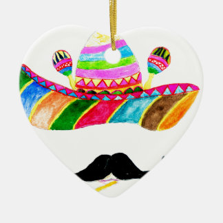 Sombrero-Hut-Aquarell Keramik Ornament