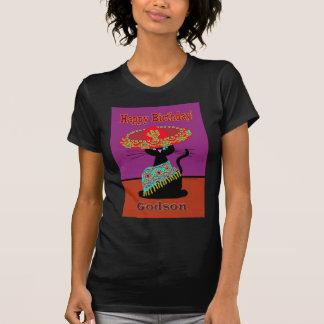 Sombrero-Katzen-Patensohn T-Shirt