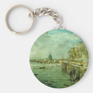 Somerset-Haus-Terrasse und die Themse Schlüsselanhänger