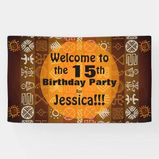 Sommer-15. Geburtstags-Party-personalisierte Fahne Banner